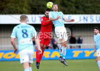 Danske Bank Premiership, Milltown Playing Fields, Newry 2/12/2017 . Warrenpoint Town vs Cliftonville. Warrenpoint\'s Stephen Murray and Cliftonville\'s Jamie Harney. Mandatory Credit ©INPHO/Philip Magowan