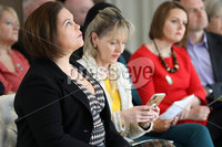 Press Eye - Sinn Feinn Manifesto launch - Galgorm Hotel - Ballymena -  5th April 2019. Photograph by Declan Roughan. Sinn Fin launches party Manifesto for Local Government Elections 2019. Mary Lou McDonald and Martina Anderson.