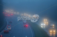 Press Eye - Belfast - Northern Ireland - 10th January 2018. Motorists make their way along the Bangor to Belfast carriageway as heavy fog covers Belfast. . Picture by Jonathan Porter/PressEye