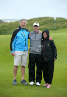 Press Eye - Belfast - Northern Ireland  - 14th July 2017 - . The Cathedral Eye Clinic North of Ireland Open Championship final between Colin Fairweather (Knock) and Rowan Lester (Hermitage).. Rowan Lester (Hermitage) pictured with his parents Derek and Susan after winning the final of the North of Ireland Championship.. Photo by Kelvin Boyes / Press Eye..