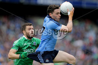 GAA Football All Ireland Senior Championship Quarter-Final, Croke Park, Dublin 2/8/2015. Dublin vs Fermanagh. Dublin\'s Paddy Andrews with Ryan McCluskey of Fermanagh. Mandatory Credit ©INPHO/Morgan Treacy