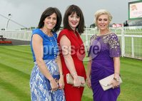 Press Eye © Belfast - Northern Ireland. Photo by Freddie Parkinson / Press Eye ©. Friday 8 September 2017. West Coast Cooler Race Evening at Down Royal Racecourse. Lisa Mulholland, Marianne McGrath and Roisin Cull from Banbridge.
