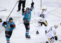 Press Eye - Belfast -  Northern Ireland - 12th January 2018 - Photo by William Cherry/Presseye. Belfast Giants Sebastien Sylvestre during Friday nights Elite Ice Hockey League game at the SSE Arena, Belfast.