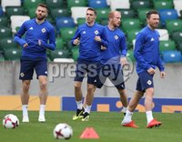 PressEye-Northern Ireland- 10th September  2018-Picture by Brian Little/ PressEye. Northern Ireland Gavin Whyte  training ahead of Tuesday Friendly International Challenge match against Israel  at the National Football Stadium at Windsor Park.. Picture by Brian Little/PressEye