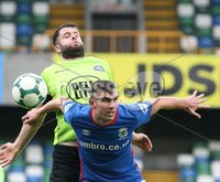 Danske Bank Premiership, Windsor Park, Belfast  3/11/2018. Linfield FC vs Warrenpoint Town. Linfield  Andrew Waterworth  and  Simon Kelly   of Warrenpoint Town.. Mandatory Credit @INPHO/Brian Little.