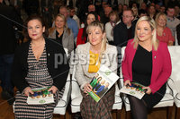 Press Eye - Sinn Feinn Manifesto launch - Galgorm Hotel - Ballymena -  5th April 2019. Photograph by Declan Roughan. Sinn Fin launches party Manifesto for Local Government Elections 2019. (L-R) Mary Lou McDonald, Martina Anderson and Michelle O\'Neill