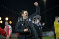 Danske Bank Premiership, The Showgrounds Ballymena 5/04/2019. Ballymena United v Linfield.  Linfield\'s manager David Healy celebrates at the end of the game. Mandatory Credit INPHO/Stephen Hamilton.
