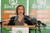 Press Eye - Sinn Feinn Manifesto launch - Galgorm Hotel - Ballymena -  5th April 2019. Photograph by Declan Roughan. Sinn Fin launches party Manifesto for Local Government Elections 2019. Mary Lou McDonald speaking at the conference.