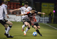 12th December  2020. Danske Bank Irish premier league match between Crusaders and Portadown at Seaview Belfast. Crusaders Paul Heatley  in action with Portadowns  Oisin Conaty. Mandatory Credit   Inpho/Stephen Hamilton