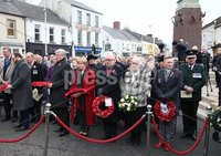 Wednesday 8th November 2017. . Picture by Press Eye.com. Family\'s who layed wreaths during the the Service at the unveiling and dedication of the memorial for the victims of the 1987 Enniskillen Poppy Day Bomb.