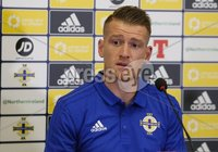 PressEye-Northern Ireland- 7th September  2018-Picture by Brian Little/ PressEye. Northern Ireland\'s captain Steven Davis attending a press conference  ahead of Saturday\'s  UEFA Nations League match against Bosnia and Herzegovina at the National Football Stadium at Windsor Park.. Picture by Brian Little/PressEye .