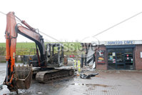 Press Eye - Belfast - Northern Ireland - 10th March 2019. The scene at Cabragh filling station on the Ballygawley Road, outside Dungannon, where a stolen digger was used to steal an ATM in the early hours of Saturday morning.. Picture by Jonathan Porter/PressEye