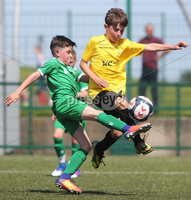 ©/Presseye.com - 17th July 2017.  Press Eye Ltd - Northern Ireland - Hughes Insurance Foyle Cup 2017- Mini Soccer U-10 - Kick Start (Derry) V Illies Celtic (Donegal). Illies Celtic\'s Oran Doherty and Kick Start\'s Jack O\'Donnell..  . Mandatory Credit Photo Lorcan Doherty / Presseye.com