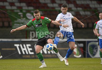 4th May 2021. Danske Bank Irish league,The Oval,Belfast.. Glentoran v Coleraine . Glentorans  Andy Mitchell  in action with Coleraines  Steven Lowry. Mandatory Credit Inpho/Stephen Hamilton