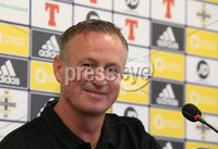PressEye-Northern Ireland- 7th September  2018-Picture by Brian Little/ PressEye. Northern Ireland\'s   Manager Michael O\'Neill attending a    press conference  ahead of Saturday\'s  UEFA Nations League match against Bosnia and Herzegovina at the National Football Stadium at Windsor Park.. Picture by Brian Little/PressEye .