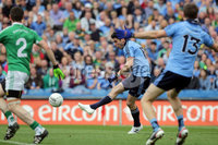GAA Football All Ireland Senior Championship Quarter-Final, Croke Park, Dublin 2/8/2015. Dublin vs Fermanagh. Dublin\'s Bernard Brogan scores a goal. Mandatory Credit ©INPHO/Morgan Treacy