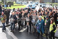 Press Eye Northern Ireland. Thursday 14th March 2019. . Public Prosecution Service announcement of persecutions over Bloody Sunday . Families en route to the City Hotel for the briefing by the PPS.. Photo Lorcan Doherty/Presseye