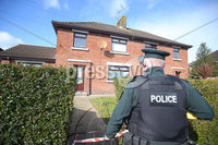 Press Eye - Belfast - Northern Ireland - 10th March 2019. The scene at Loughview Gardens in Coalisland where a number of shots were fired at a house in the early hours of Sunday morning.  A number of people, including children, were in the property at the time and escaped uninjured. . Picture by Jonathan Porter/PressEye