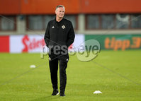 Press Eye - Belfast -  Northern Ireland - 11th October 2018 - Photo by William Cherry/Presseye. Northern Ireland\'s Michael O\'Neill during Thursday nights training session at the Ernst Happel Stadium in Vienna, ahead of their UEFA Nations League game against Austria.