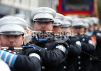 Press Eye - Belfast - Northern Ireland - 12th July 2018 . Members of Donaghadee Flutes and Drums on parade at the North Down \'Twelfth\' celebrations in Newtownards town centre, County Down.. Photo by Kelvin Boyes / Press Eye..