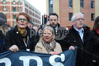 Relatives of the Bloody Sunday victims make their way from the Bloody Sunday Monument to the City Hotel to meet with the Public Prosecution Service.. From left are Geraldine Doherty, Alana Burke, Colum Eastwood and John Kelly.. Photo Lorcan Doherty/Presseye