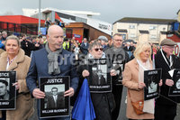 Relatives of the Bloody Sunday victims make their way from the Bloody Sunday Monument to the City Hotel to meet with the Public Prosecution Service.. Photo Lorcan Doherty/Presseye