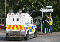 Press Eye Belfast - Northern Ireland 10th August 2017. Police on the Springfield Road in west Belfast where there is an ongoing security alert. . Picture by Jonathan Porter/PressEye.com