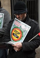 Mandatory Credit - Picture by Freddie Parkinson/Press Eye ©. Saturday 2 December 2017. Unite protest against Universal credit at the Department of the Communities, Bedford Street..