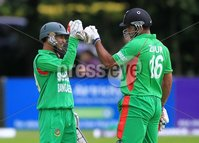 ©Press Eye Ltd Northern Ireland -18th July  2012. Mandatory Credit - Picture by Darren Kidd/Presseye.com . RSA T20 International Series.. Ireland v Bangladesh, 1st T20I, Stormont, Belfast.. Nasir Hossain and Ziaur Rahman as Bangladesh set a target of 190 for Ireland.