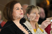 Press Eye - Sinn Feinn Manifesto launch - Galgorm Hotel - Ballymena -  5th April 2019. Photograph by Declan Roughan. Sinn Fin launches party Manifesto for Local Government Elections 2019. (L-R) Mary Lou Mc Donald and Martina Anderson