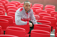 Press Eye Belfast - Northern Ireland 10th October 2017. Ulster Rugby press conference at the Kingspan Stadium in east Belfast ahead of their Champions Cup fixture versus Wasps on Friday night.  . Christian Lealiifano . . Picture by Jonathan Porter/Inpho