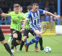 Danske Bank Premiership, Showgrounds, Coleraine 4/8/2018. Coleraine vs Warrenpoint. Coleraine\'s Ian Parkhill and Warrenpoint\'s Matthew Lynch. Mandatory Credit ©INPHO/Lorcan Doherty