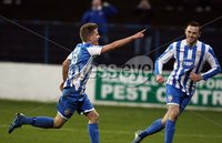 Mandatory Credit - Picture by Freddie Parkinson/Press Eye ©. Saturday 21st November 2015. NIFL Premiership. The Showgrounds, Coleraine.. Coleraine FC vs. Carrick Rangers FC. Coleraine\'s Lyndon Kane scored their first goal.