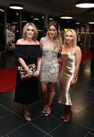 Press Eye - Belfast - Northern Ireland - 14th January 2019.. Roma Doherty, Sinead Barnes and Kerrie O\'Hanlon pictured at the  Belfast Telegraph Sports Awards 2018 in the ICC Belfast.. Photo by Kelvin Boyes / Press Eye..