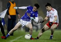 McKenna Cup, Kingspan Breffni Park, Co. Cavan 10/1/2018. Cavan vs Tyrone. Cavan's Darragh Kennedy with Lee Brennan of Tyrone. Mandatory Credit ©INPHO/Tommy Dickson