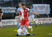 Danske Bank Premiership, The Showgrounds Ballymena 5/04/2019. Ballymena United v Linfield. Ballymena\' s Jude Winchester  with Linfield\'s Jamie Mulgrew. Mandatory Credit INPHO/Stephen Hamilton.