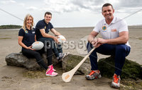 REPRO FREE***PRESS RELEASE NO REPRODUCTION FEE***. Topaz Cash for Clubs Launch, Dublin 17/5/2017. Pictured at the launch of Cash for Clubs are Topaz ambassadors (L-) Brid Stack, Kevin McManamon and Alan Quinlan.. Topaz is encouraging people from across Ireland to go the extra mile for there local community to be in with a chance to win up to €10,000 for a club of their choice. A total of €200,000 in cash prizes will be up for grabs over the course of the next 12 weeks.. For more information and how to enter see www.playorpark.ie/cashforclubs. Mandator Credit ©INPHO/James Crombie