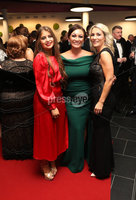 Press Eye - Belfast - Northern Ireland - 14th January 2019.. Katie McGowa, Paula Quinn and Helen Galbraith  pictured at the  Belfast Telegraph Sports Awards 2018 in the ICC Belfast.. Photo by Kelvin Boyes / Press Eye..