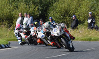 Mandatory Credit: Rowland White / PressEye. ULSTER GRAND PRIX. Venue: Dundrod. Date: 12th August 2017. Class: SUPERSPORT RACE 2. Caption: Peter Hickman, Bruce Anstey, Michael Dunlop and Lee Johnston