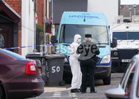 Press Eye - Belfast - Northern Ireland - 15th March 2019. The scene at Kyle Street in the Sydenham area of east Belfast where police have launched a murder investigation after a male was found dead early on Friday morning. . . Picture by Jonathan Porter/PressEye