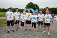Press Eye - Belfast - Northern Ireland - 5th June 2016 - . The Musgrave Team  take part in the first ever Centra 5k pairs run for Action Cancer at Ormeau Park.. Over 100 families, friends and colleagues paired up today (Sunday 5th June) for the inaugural Centra Run Together event at Ormeau Park, raising vital funds for local charity Action Cancer. . Run Together is a set of four 5k races taking place across Belfast, Mid Ulster and Derry between June and October which encourage you to run with your partner, son, daughter, friend or neighbour. . Picture by Kelvin Boyes / Press Eye . .