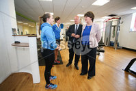 Philip Magowan Photography - Northern Ireland - 19th May 2017. Pictured: David Simpson MP and DUP leader Arlene Foster with Jemma Jackson of Fit Banbridge.. Picture: Philip Magowan