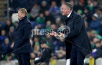 Press Eye - Belfast, Northern Ireland - 16th November 2019 - Photo by William Cherry/Presseye. Northern Ireland manager Micheal O\'Neill during Saturday nights UEFA Euro 2020 Qualifier against Netherlands at the National Stadium, Belfast.     Photo by William Cherry/Presseye