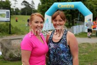Press Eye - Belfast - Northern Ireland - 5th June 2016 - . Lindsay Brown and Pamela Cameron from Belfast take part in the first ever Centra 5k pairs run for Action Cancer at Ormeau Park.. Over 100 families, friends and colleagues paired up today (Sunday 5th June) for the inaugural Centra Run Together event at Ormeau Park, raising vital funds for local charity Action Cancer. . Run Together is a set of four 5k races taking place across Belfast, Mid Ulster and Derry between June and October which encourage you to run with your partner, son, daughter, friend or neighbour. . Picture by Kelvin Boyes / Press Eye . .