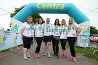 Press Eye - Belfast - Northern Ireland - 5th June 2016 - . The Musgrave Marketing team take part in the first ever Centra 5k pairs run for Action Cancer at Ormeau Park.. Over 100 families, friends and colleagues paired up today (Sunday 5th June) for the inaugural Centra Run Together event at Ormeau Park, raising vital funds for local charity Action Cancer. . Run Together is a set of four 5k races taking place across Belfast, Mid Ulster and Derry between June and October which encourage you to run with your partner, son, daughter, friend or neighbour. . Picture by Kelvin Boyes / Press Eye . .