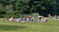 Press Eye- Belfast - Northern Ireland - 2nd June 2020 . General view of crowds of youths pictured at Crawfordsburn Country Park in Co Down despite Covid-19 fears.. Photo by Press Eye