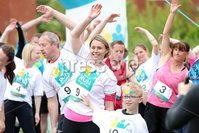 Press Eye - Belfast - Northern Ireland - 5th June 2016 - . General views of runners as they take part in the first ever Centra 5k pairs run for Action Cancer at Ormeau Park.. Over 100 families, friends and colleagues paired up today (Sunday 5th June) for the inaugural Centra Run Together event at Ormeau Park, raising vital funds for local charity Action Cancer. . Run Together is a set of four 5k races taking place across Belfast, Mid Ulster and Derry between June and October which encourage you to run with your partner, son, daughter, friend or neighbour. . Picture by Kelvin Boyes / Press Eye . .