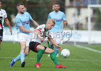 Danske Bank Premiership, Showgrounds, Ballymena  24/8/2019. Ballymena United  vs Glentoran FC . Ballymena United\'s Jude Winchester   and  Conor Pepper     of Glentoran .. Mandatory Credit  INPHO/Brian Little