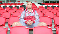 Press Eye Belfast - Northern Ireland 10th October 2017. Ulster Rugby press conference at the Kingspan Stadium in east Belfast ahead of their Champions Cup fixture versus Wasps on Friday night.  . Kieran Treadwell. Picture by Jonathan Porter/Inpho .