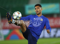 Press Eye - Belfast -  Northern Ireland - 11th October 2018 - Photo by William Cherry/Presseye. Northern Ireland\'s Josh Magennis during Thursday nights training session at the Ernst Happel Stadium in Vienna, ahead of their UEFA Nations League game against Austria.